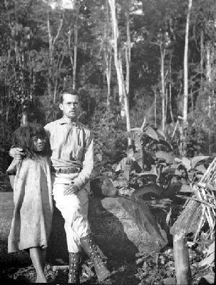 Alfred M. Tozzer during his 1905 fieldwork with the Lacandon Maya