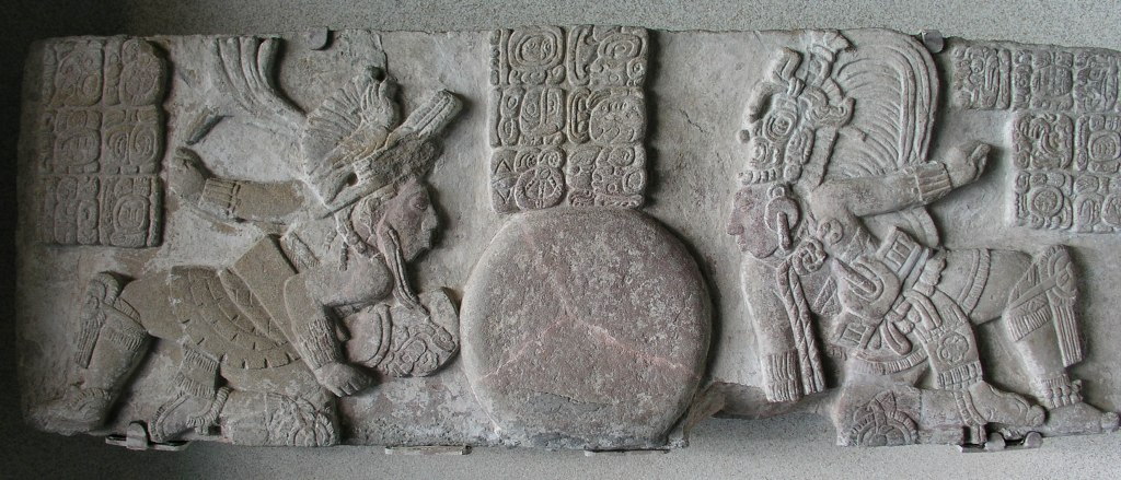 Figure 1. Monument 171 from Tonina, now in the Museo Nacional  de Antropología (Photograph by D. Stuart).