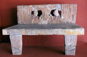Figure 1. PIedras Negras, Throne 1, now in the Museo Nacional de Antropologia e Historia, Guatemala City. Photograph by Mary Dodge.