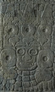 Stela 31 Tlaloc shield