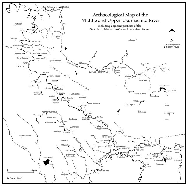 Archaeological Map of the Middle and Upper Usumacinta River, by David Stuart (2007)