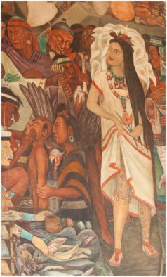 Figure 1.  Prostitute in the Market of Tlatelolco, Diego Rivera, 1944-1945, Palacio Nacional, Mexico City (photograph by S. Houston).