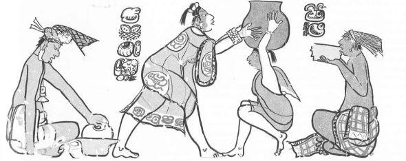 Figure 3.  SE-SI Scene, Chiik Nahb Structure Sub 1-4 (drawing by Simon Martin, Proyecto Arqueológico Calakmul, Ramón Carrasco, Director).