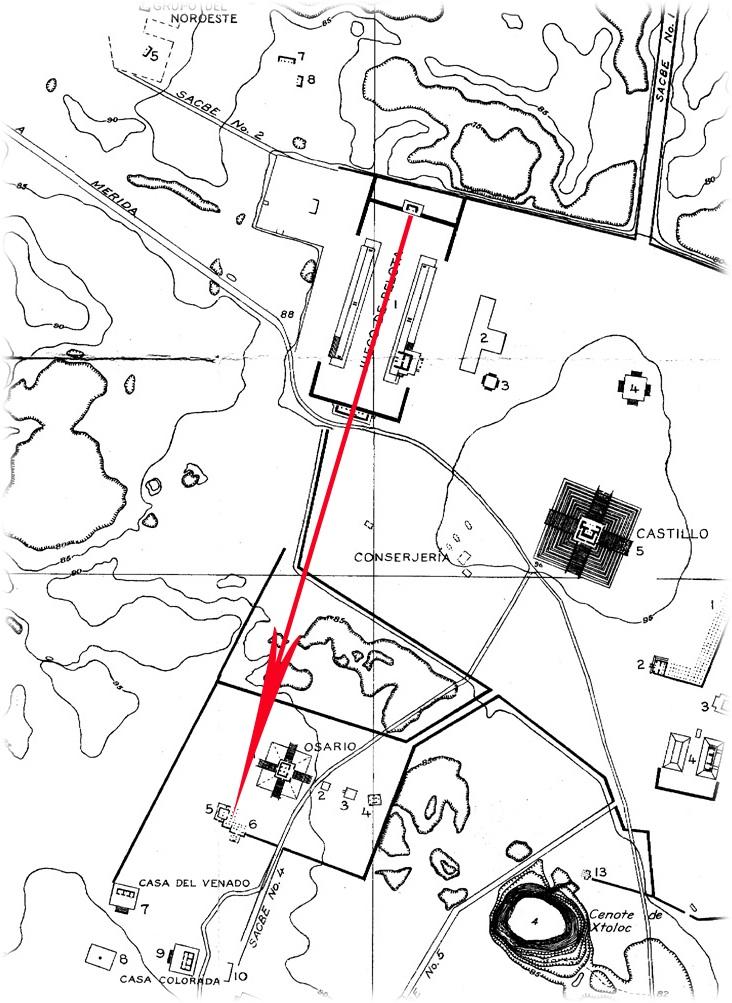 Chichen Itza Maya Decipherment - Chichen itza map