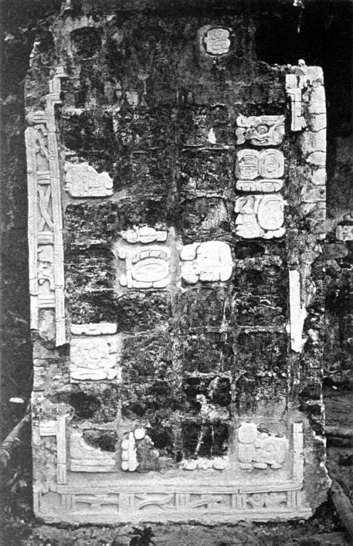 Figure 1. Maudslay's photograph of Pier A from House A of the Palace, Palenque.