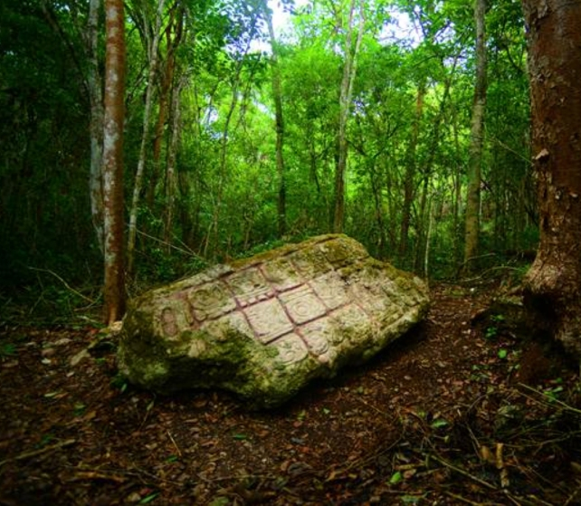 Stela 2 of Lagunita, Campeche. Photo: Ivan Sprajc.