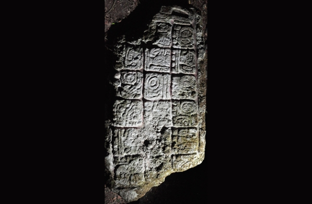 Figure 2. Lagunita, Stela 2. Photo: Ivan Sprajc.