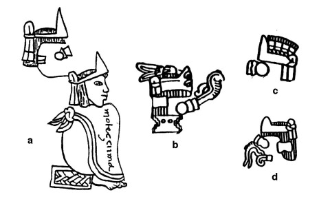 Figure 4. Name glyphs of Moteuczoma [TEŪC(TLI)-ZŌMA]