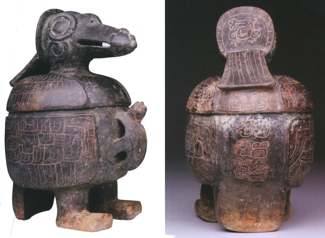 Figure 1. Two views of bird effigy vase. From Fields and Reents-Budet (2005:209)