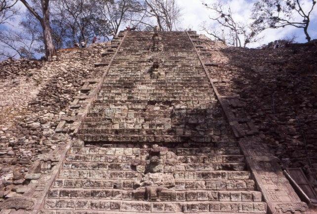 Copan's Hieroglyphic Stairway in 1987