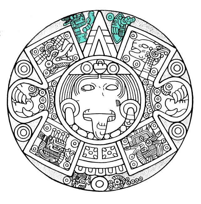 The Face Of The Calendar Stone A New Interpretation Maya Decipherment