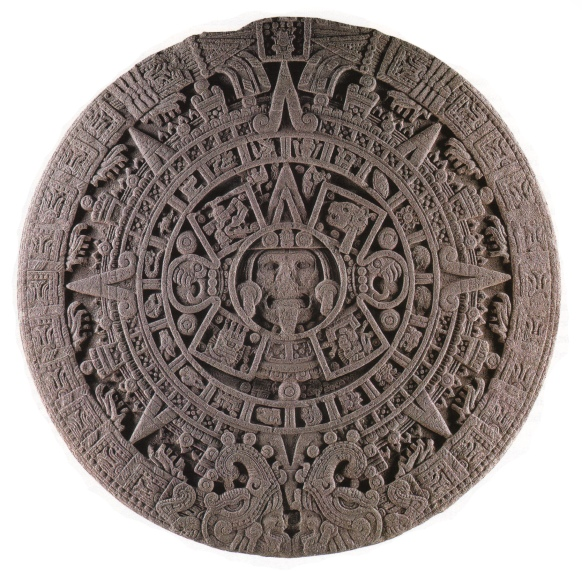 Figure 1. Photograph of the sculpted face of the Aztec Calendar Stone, or Piedra del Sol, Museo Nacional de Antropología, Mexico City.